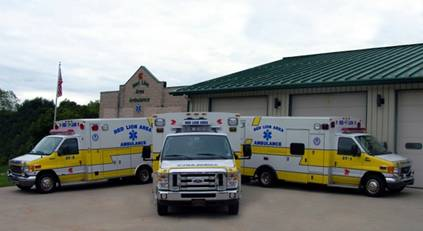New Red Lion Ambulance Building and Vehicles
