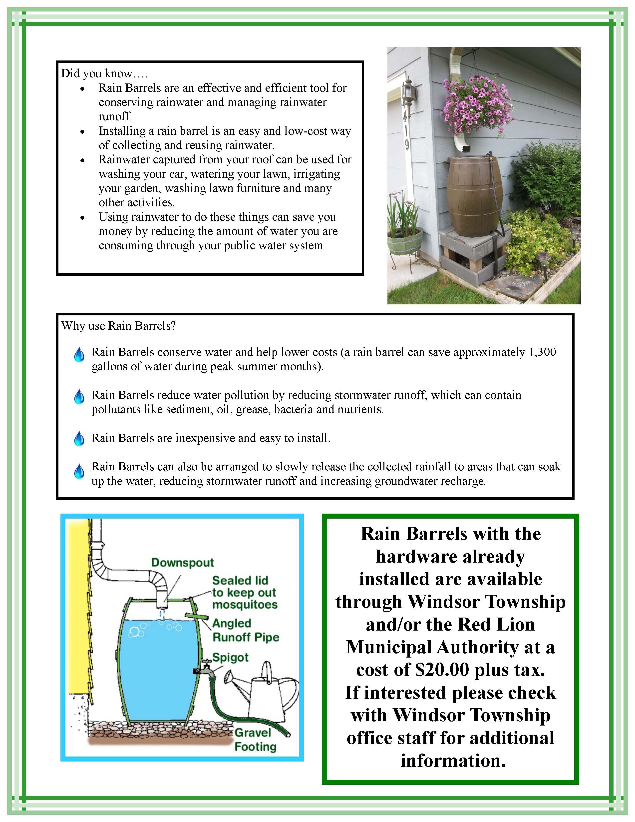Rain Barrel publication